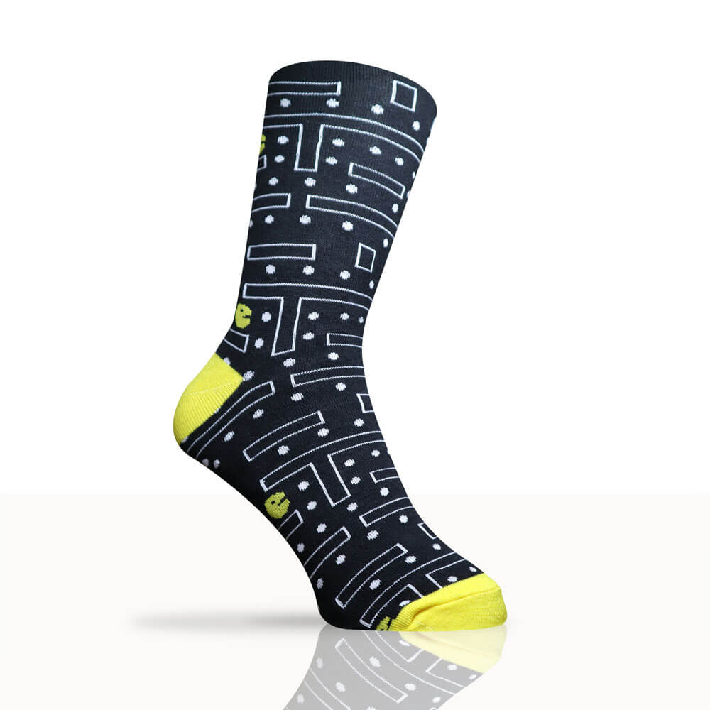 pac-man themed socks