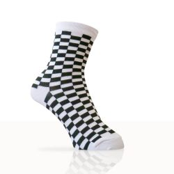 white checkered socks