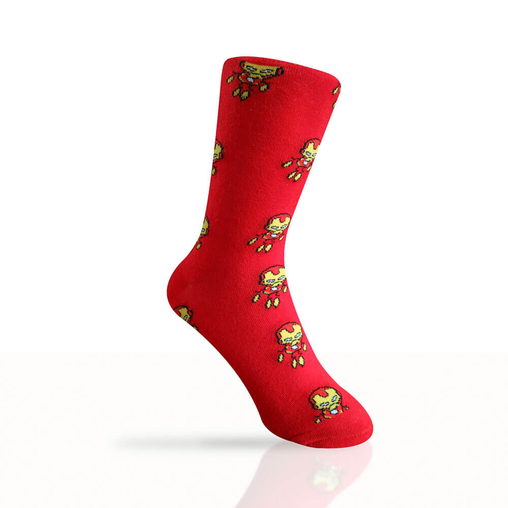 red iron man socks
