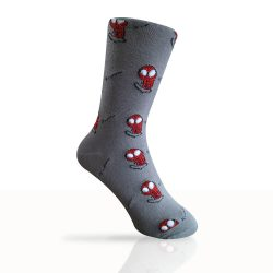 grey spider man socks