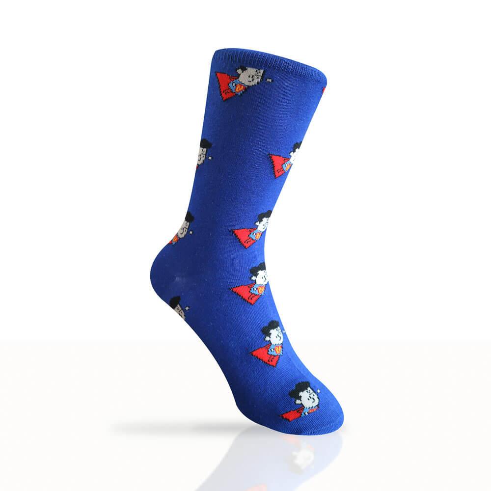 blue superman socks