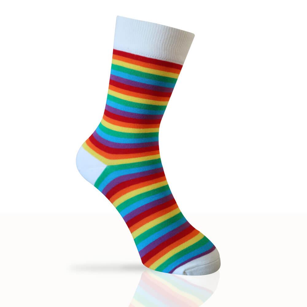 rainbow coloured socks